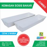 Tray Kemasan Sosis Bakar - Uk. Jumbo 24.5 x 7 x 4 cm Cetak 3 Warna