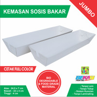 Tray Kemasan Sosis Bakar - Uk. Jumbo 24.5 x 7 x 4 cm Cetak Full Color