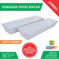 Tray Kemasan Sosis Bakar - Uk. Jumbo 24.5 x 7 x 4 cm Cetak 2 Warna