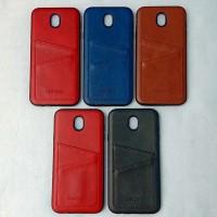 Leather Case Card Slot Casing Cover Kulit Samsung Galaxy J7 Pro J7Pro