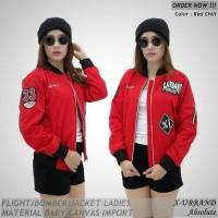 termurah Jaket Bomber Wanita X-Urband Emblem - Merah