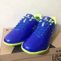 Harga sepatu futsal anak kelme star 9 junior royal lime 11157 | antitipu.com