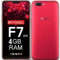 READY HP OPPO F7 4/64 GB (F 7 V7 RAM 4GB INTERNAL 64GB) - BLACK - RED