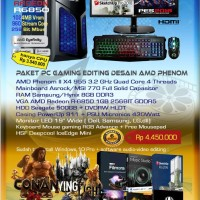 Komputer PC Rakitan Paket Gaming Editing Desain AMD Phenom