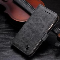 Murah!! Flip Cover Vintage Case Samsung J7 2016 J710 Casing Hp Wallet