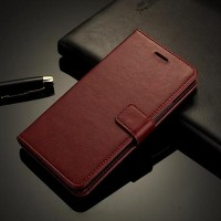 Murah!! Leather Flip Cover Wallet Nokia 6 Case Casing Hp Dompet Kulit