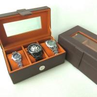 tempat jam isi 3 kualitas ekspor/box arloji/kotak jam termurah