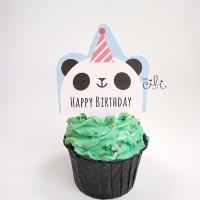 (TOPER bday02) hiasan kue cake cupcake ulang tahun tema binatang lucu