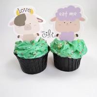 (TOPER netral04) cucukan penghias kue cake cupcake lucu tema binatang