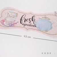 (SN05) Stiker Toples dus Kue kering tema fresh pink