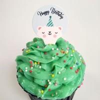 kue cupcake cake toper decoration diameter 3 cm tema ulang tahun