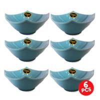 Mangkuk Makan Segi Empat 7 Inch F4470BM ( Isi 6 Pcs ) - Biru Muda