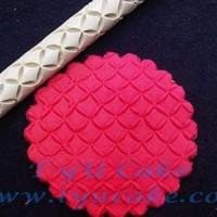 R11 Rhombus Rolling Pin Polimer 16CM