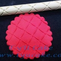 R13 Lines & Points1 Rolling Pin Polimer 16CM