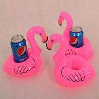 flamingo cup holder tempat gelas kaleng balon flamingo
