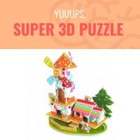 3D Puzzle Mainan Edukasi Masa kini