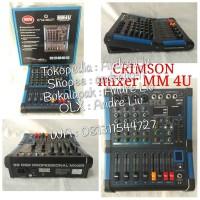 Harga mixer mini 4 channel type mm 4u crimson   Pembandingharga.com