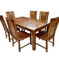 Jual paket murah kursi tamu minimalis, bufet tv, dan set meja makan k6