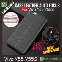 Softcase Leather Auto Focus Original Case Casing Cover HP Vivo Y55