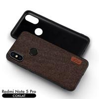 Softcase TPU Mofi Fabric Case Cover Casing HP Xiaomi Redmi Note 5 Pro