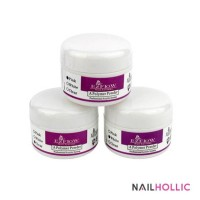 3 pcs EZ FLOW acrylic powder (clear, pink, white)