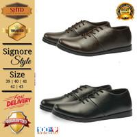Sepatu Casual Formal Kantor Kickers Model Brodo Signore Pria non Kulit