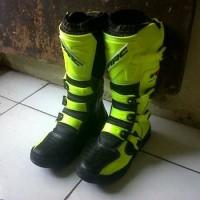 SEPATU BOOTS ORIGINAL sepatu cross ARC bahan kulit warna hijau hitam