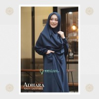 Adhara Dress Navy By Greenism Gamis Cantik Casual Syari
