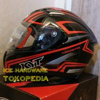Helm Motor Full Face KYT Vendetta 2 Carbon Red Ready XXL Original