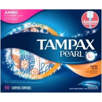 Tampax Pearl Jumbo Super Plus Tampon 50 Pcs Unscented