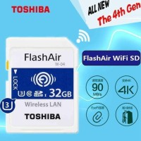 TOSHIBA FLASH AIR 32GB SD CARD WIFI WIRELESS MEMORY KAMERA AIR32GB ORI