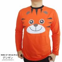 Baju Atasan Pria Gambar Animal Tiger & Duck Lengan Panjang