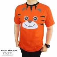 Baju Atasan Pria Gambar Animal Tiger & Duck Lengan Pendek