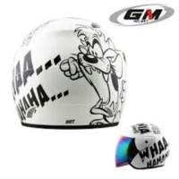 Helm half face GM animasi