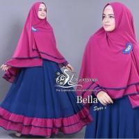 BEST SELLER- gamis syari MUSLIMAH BAHAN jersey premium HQ MOTIF BELLA