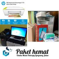 Paket fotocopy 4570 + printer hp + 2135 + 1 set komputer + paket usaha