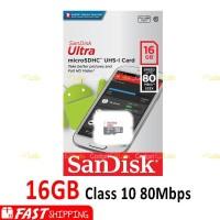 Micro Sd Sandisk 16Gb Ultra Class10 80Mb S Memory Card Class 10 16 Gb