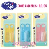 Harga baby safe comb and brush set bd195 brush and comb sikat sisir   antitipu.com