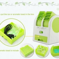 Best Seller Kipas Angin Model AC Portable Mini Duduk Double Fan Kecil