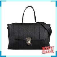 tas bahu wanita shoulder bag messenger bag cewek hitam simpel bta280