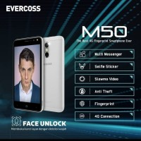Evercoss M50 4G LTE Face Unlock - Ram 1GB/8GB - Garansi R hp handphone