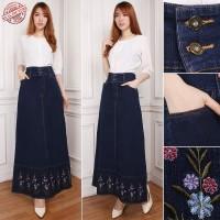 SB Collection Rok Maxi Refa Panjang Longskirt Casual Jeans Wanita