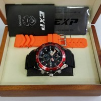 Jam Tangan Expedition EXP3007MC Silver Red Rubber