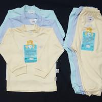 LIBBY Setelan Panjang Polos S,M kecil (6-12 bulan) Pakaian Bayi 3pcs