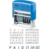 Stempel Tanggalan Shiny S 312 / S-312 (Self Ink) Phrases & Dater Stamp
