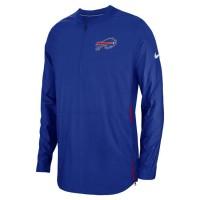Men's Buffalo Bills Nike Blue Sideline Lockdown Quarter-Zip Jacket