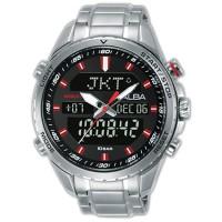 Jam Tangan Pria AZ4061 - Alba Digital AZ4061X1 World Time Black Dial