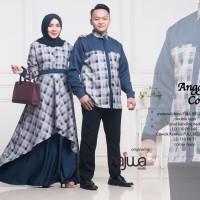 Couple sarimbit muslim ANGGINI lengan panjang ori najwa