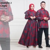 Couple sarimbit batik hem panjang bahan katun casandra ori najwa