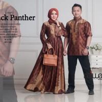 Couple sarimbit batik semi sutera black panther ori by najwa hijab
